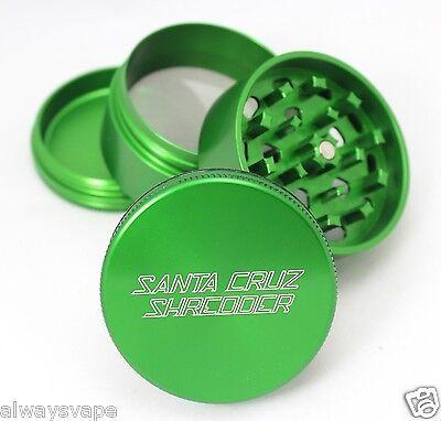 "Santa Cruz Shredder Herb & Tobacco Grinder Medium 2.2"" 4 Piece Aluminum Green"