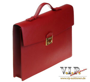 "FäHig S.t.dupont ""contraste"" Aktentasche Leder Tasche Business Bag Briefcase Serviette Komplette Artikelauswahl"