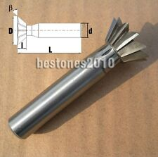 Lot 1pcs HSS Cutting Dia 16mm Degree 50°Dovetail Cutter End Mill Shank dia 12mm