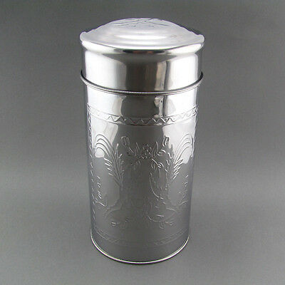 Professional Airstream Double Cover Tea Canister Coffee Bean Can Medium TP101