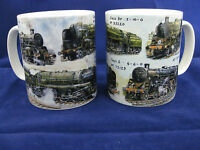MULTI IMAGE STEAM ENGINE LOCOMOTIVE TRAIN  MUG