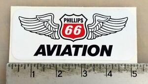 """Vintage Phillips 66 Aviation sticker decal 5""""x2.1"""""""