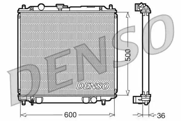 1x denso Radiador DRM45014 DRM45014