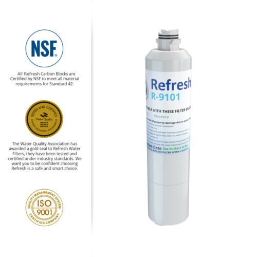 Refresh Replacement Water Filter Fits Samsung RF23HTEDBSR Refrigerators 2 Pack