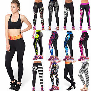 2d5696f788 Image is loading Womens-Yoga-Gym-Pants-Running-Sports-Leggings-Fitness-