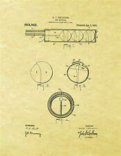 Display Art Print US PATENT for GUN MUFFLER Silencer Childress 1910