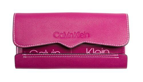 Purple Magenta Trifold Slide Klein Clutch Wallet Nieuw Tr Calvin zqU0w