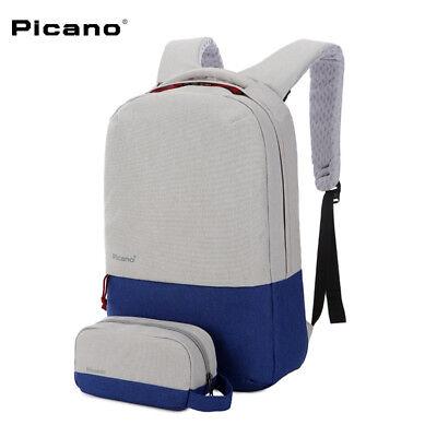 Waterproof Travel Bag Picano 15.6/'/' Laptop Notebook School Backpack  USB Port