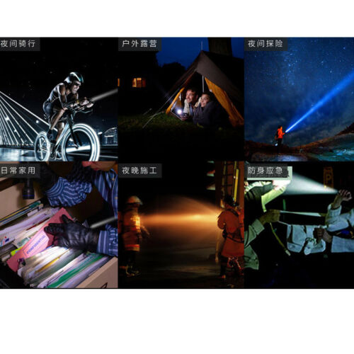 2 Sets Ultrafire 50000LM Flashlight Tactical Zoomable 5 Modes Torch  LED Light