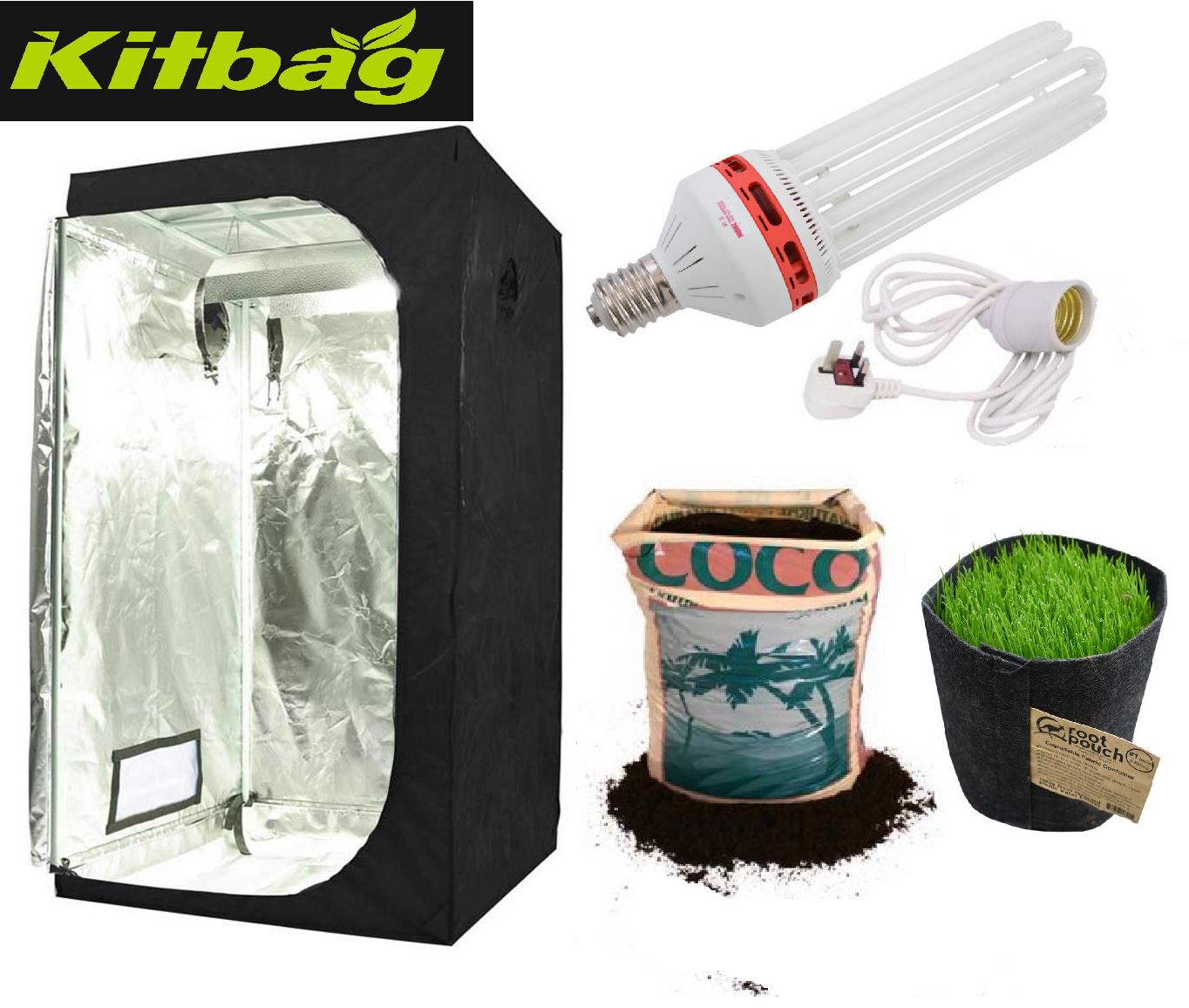 BEST completa coltura idroponica piccoli Grow Room Tenda CANNA CFL Luce Kit 50x50x100