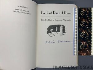 WHIT-STILLMAN-SIGNED-THE-LAST-DAYS-OF-DISCO-NOVEL-BOOK-WITH-DISCO-35MM-FILM-CELL