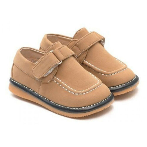 Wide Fit Leather Squeaky Shoes Boys Infant Toddler Light Brown