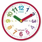 Acctim Lulu Time Teaching Wall Clock 26cm Red 21884
