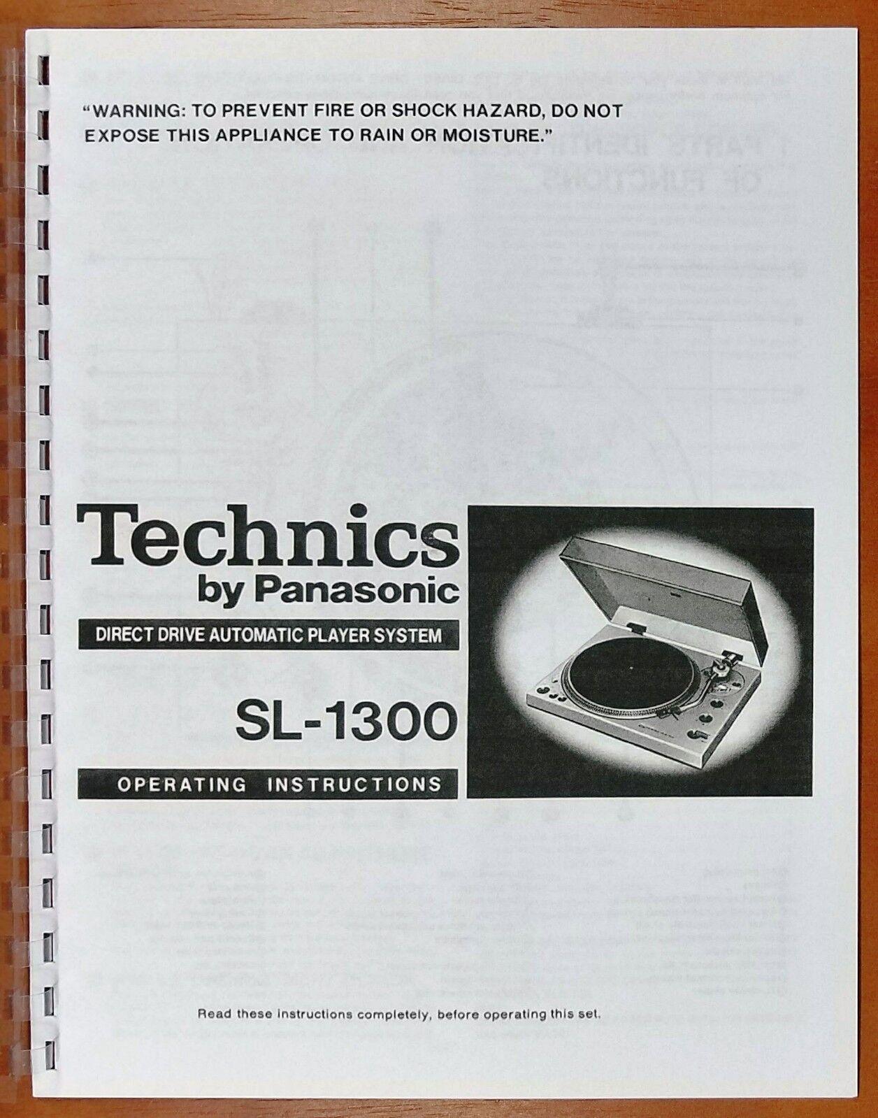 Technics Sl 1300 Turntable Owners Manual Ebay