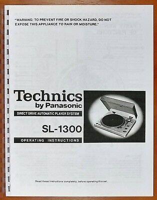Technics SL-1300 Turntable Owners Manual | eBay