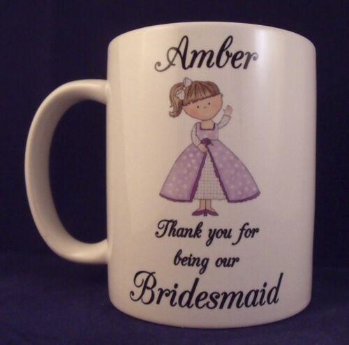 Mug personnalisé demoiselle d/'honneur de mariage de cadeau tasse