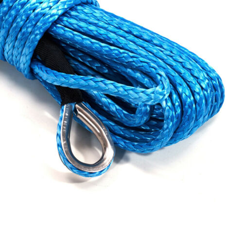 Blue 15M*5MM Car SUV Truck Tow Winch Line Cable Rope Sheath ATV UTV Help Drive