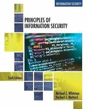 Principles of Information Security by Michael Whitman and Herbert Mattord (2017, Paperback)