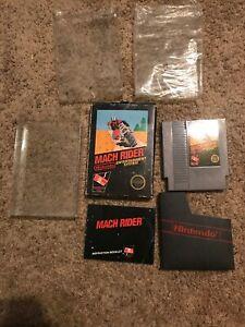 🔥Nes Nintendo Mach Rider Sticker Seal 5 Screw Black Box Complete In Box RARE!!