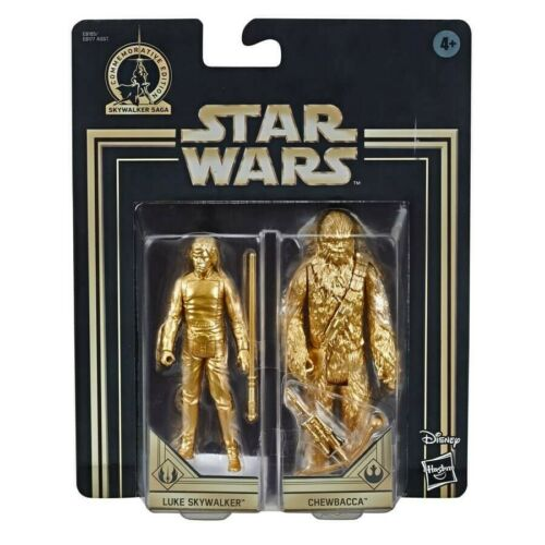 8 Star Wars Commemorative Edition Skywalker Saga Gold Luke Skywalker//Chewbacca