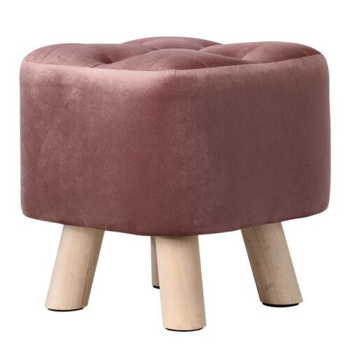 Small Velvet Footstool Soft Seat Footrest Kid Child Toddler Stool Hallway Chair
