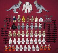 LEGO Star Wars minifigure Hoth LOT Wampa,Tauntaun,Vader,Luke,Han,Leia,Pilots, +