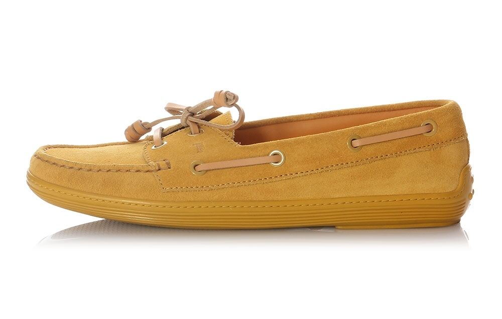 TOD'S Yellow Suede Marlin Boat shoes - Great for slippery work