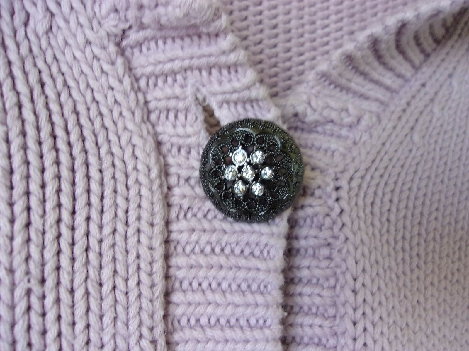 Calvin Klein Lilac 1 Button Shawl Collared Cardig… - image 4