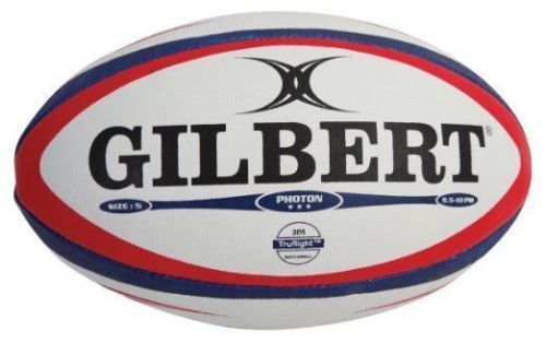 Gilbert Photon Red Blue Rugby Match Ball Size 4