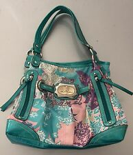 kathy van zeeland Turquoise Womens Southwestern Purse Bag Handbag Embelished