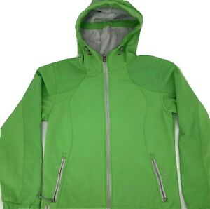 Black-Diamond-Double-Diamond-Womens-ZIP-Jacket-Lime-GREEN-Softshell-Small
