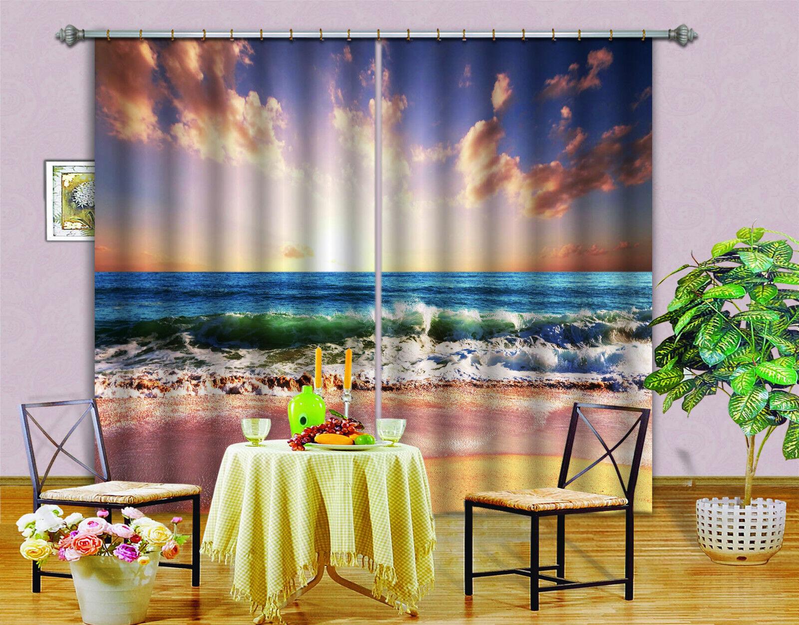 3d mar ola 538 bloqueo foto cortina cortina de impresión sustancia cortinas de ventana