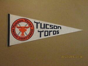 Tucson Toros Vintage Defunct Orange & Blue Logo Pennant