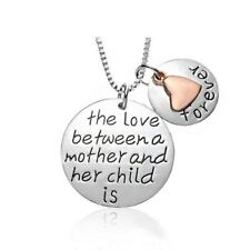 *UK* 925 SILVER PLT /'THE LOVE OF FAMILY IS FOREVER/' ENGRAVED NECKLACE TREE HEART