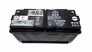 original vw audi batterie varta agm 12v 105ah 580a battery. Black Bedroom Furniture Sets. Home Design Ideas