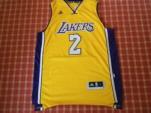 Details about Los Angeles Lakers Jersey Lonzo Ball # 2. Made by Adidas. Size L. Used Good Cond