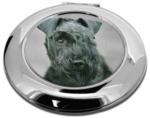 Kerry Blue Terrier Dog MakeUp Round Compact Mirror Christmas Gift, ADKB1CMR