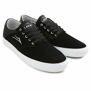 Lakai-Shoes-Porter-Black-Suede-USA-SIZE-Skateboard-Sneakers