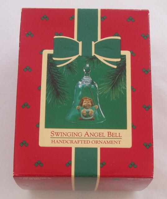 Vintage Hallmark 1985 Swinging Angel on Swing Bell Ringer Christmas Ornament
