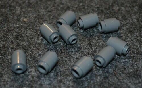 1x1 Dark Gray Round Cylinder Bricks 10 NEW Lego Parts