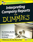 Interpreting Company Reports For Dummies by Lita Epstein, Ken Langdon, Alan Bonham (Paperback, 2008)