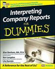 Interpreting Company Reports For Dummies by Lita Epstein, Ken Langdon, Alan Bonham (Paperback, 2008)