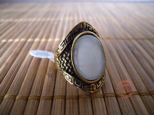 Anello Donna Fascia Ovale Greca Vintage Etnico color Dorato Moda Estate Estivo