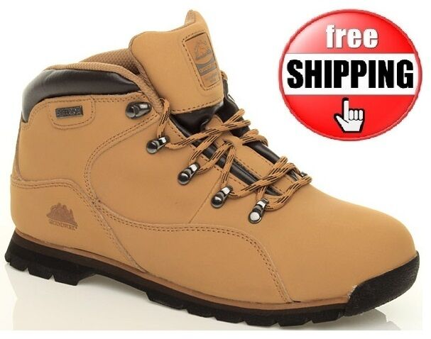 MENS STEEL TOE CAP HONEY TRAINER SAFETY BOOTS WORK ANKLE BOOT TRAINERS Sz 7-11