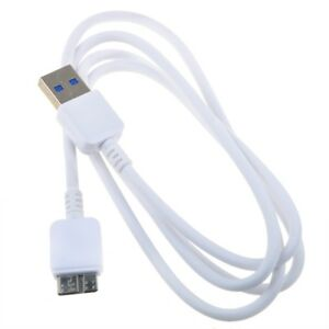 White-USB-3-0-PC-Data-Sync-Cable-Lead-for-SAMSUNG-P3-STSHX-MT050DF-500GB-USB-3-0