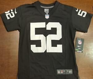 Las Vegas Raiders Jersey Khalil MacK #52 Youth Game Replica   eBay