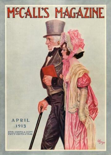 McCall's Magazine Cover (Only) - Man and Woman - Victorian Fashions - 1913