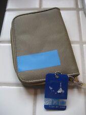 ca1b6987df2 Flight 001 Passport wallet holder Travel document credit cards Tan Blue NWT