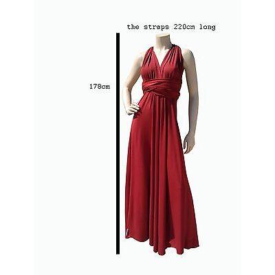 ElenK  129.00$ convertible multy way infinity dress silky