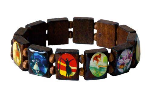 Vintage Hawaiian Deluxe Bracelet Schima Superba Wood Jewelry Hawaii Aloha